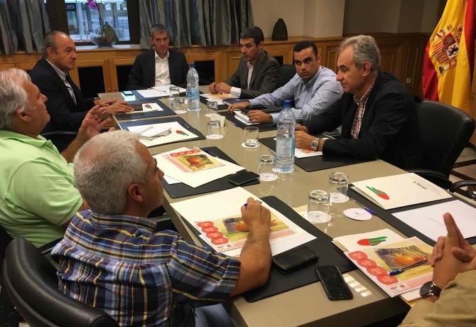 Reunión sector de tomate pdte Gob Can.